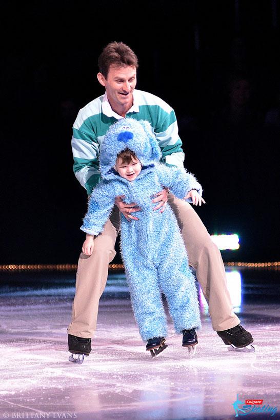 Todd Eldredge skates with son, Ayrton Eldredge