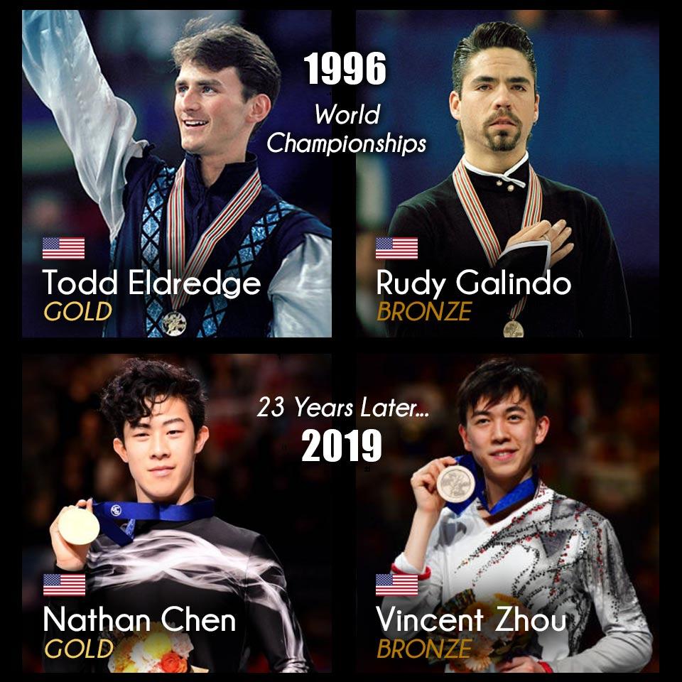 Todd Eldredge Rudy Galindo Nathan Chen Vincent Zhou